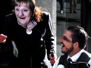Bild: Merkel und Ackermann beim feiern